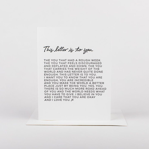 This Letter Is To You Card