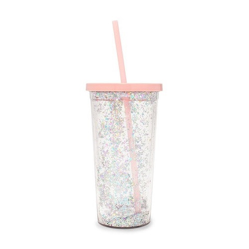 Glitter Bomb Sip Sip Tumbler with Straw