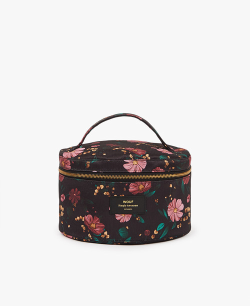 Beauty Bag | Black Flowers