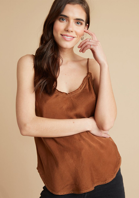 Fray Edge Cami | Copper
