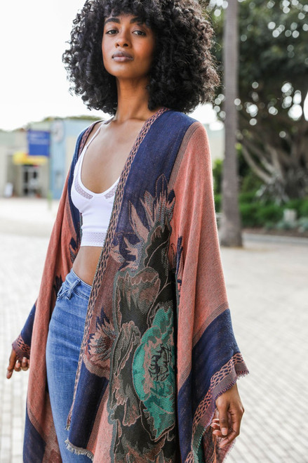 Rose Woven  Kimono