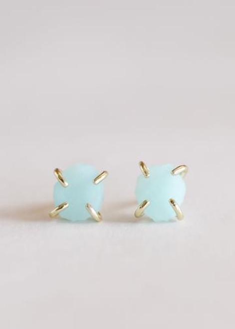 Amazonite Gemstone Prong Earrings