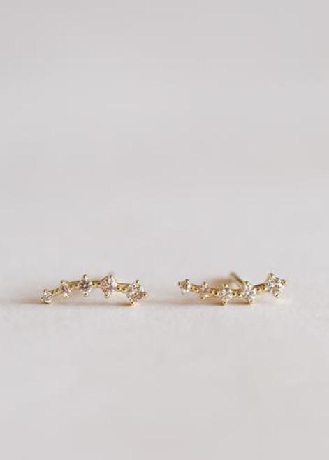 Champagne Crawler Earrings