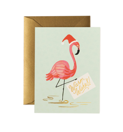 Holiday Flamingo Card