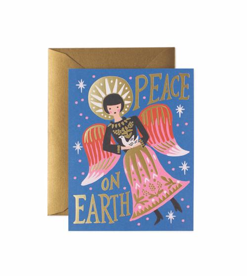 Peace On Earth Angel Card