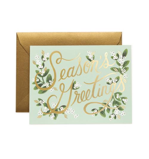 Mistletoe Season's Greetings Card