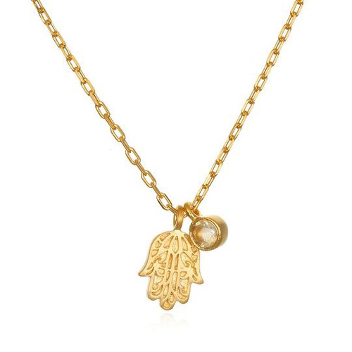 Protection Necklace | Hamsa