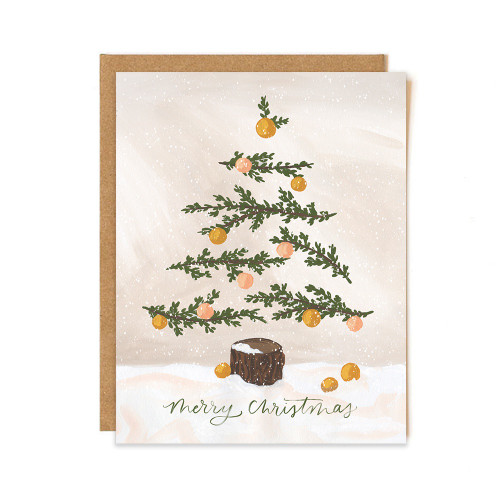 Christmas Tree Tan Card