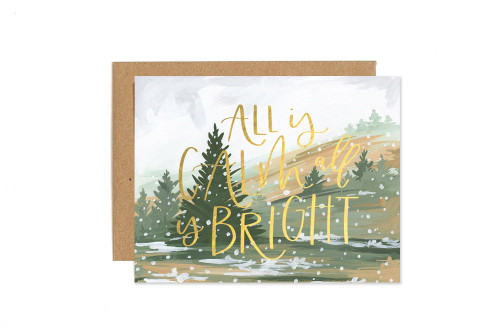 Calm And Bright Landscape Card