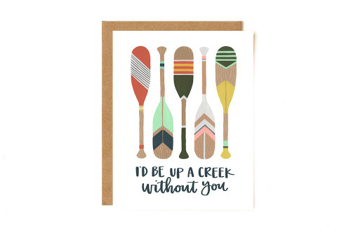 Up A Creek Paddles Card