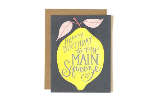 Lemon Birthday Main Squeeze Card