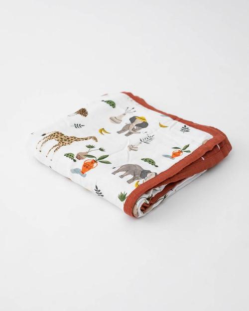 Deluxe Cotton Muslin Quilt | Safari Social