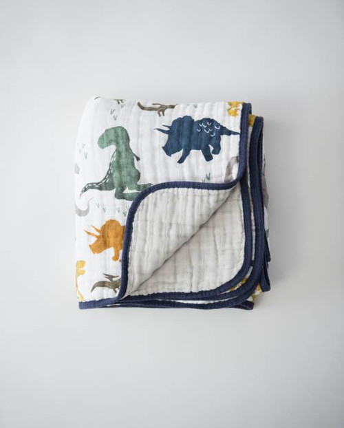 Cotton Muslin Quilt | Dino Friends