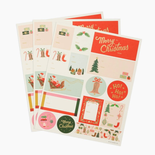 Deck The Halls Stickers & Labels | 3 Pack