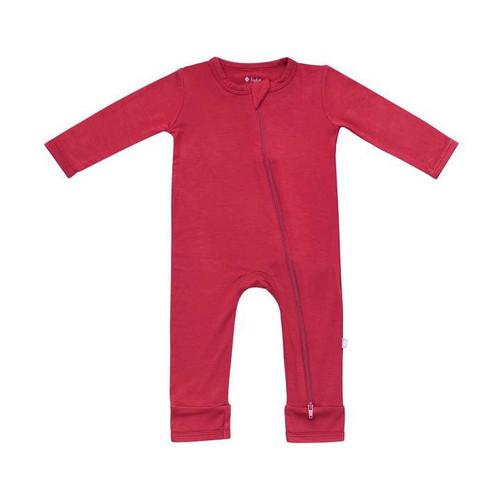 Children's Zippered Romper in Ruby