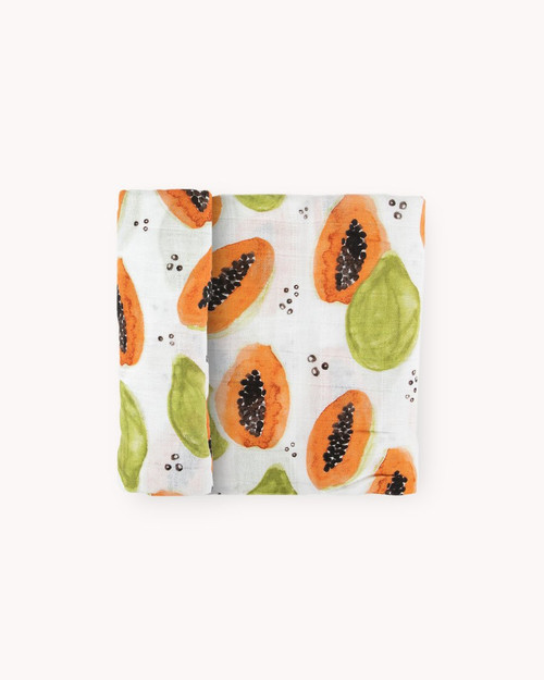 Cotton Muslin Swaddle | Papaya