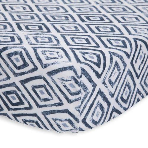 Cotton Muslin Crib Sheet | Blue Topaz