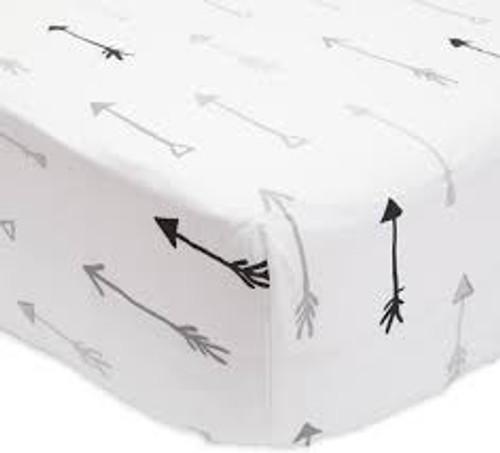 Percale Crib Sheet | Arrow