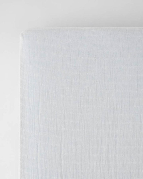 Cotton Muslin Crib Sheet | White
