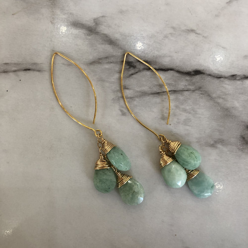 Amazonite Waterfall Earrings
