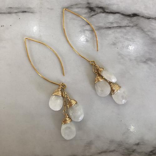 Moonstone Waterfall Earrings