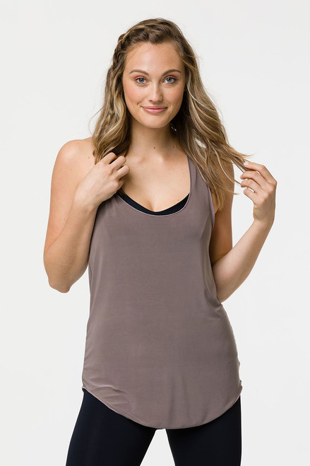 Glossy Flow Tank | Champagne