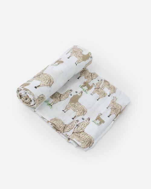 Cotton Muslin Swaddle | Llama Llama