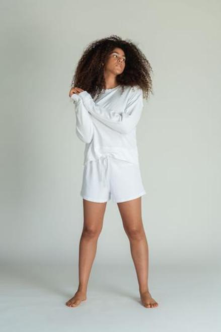 Layla Sweat Shorts | White