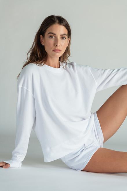 Tyler Pullover Sweatshirt | White