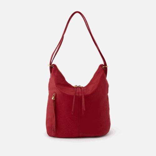 Merrin Convertible Backpack Shoulder Bag | Scarlet