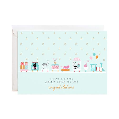 Choo Choo Chain Greeting Card