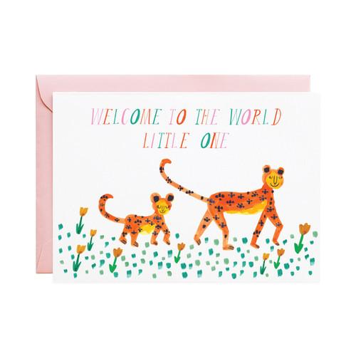 Mummy Leopard Greeting Card