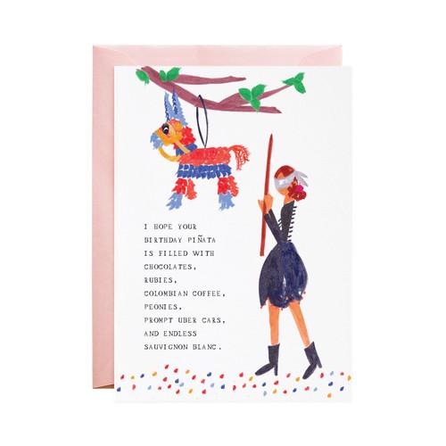 My Birthday Piñata Greeting Card