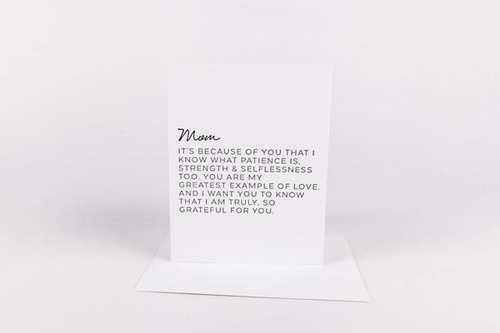 Because Of You Mom Card