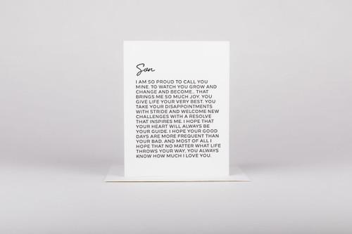 Dear Son Card