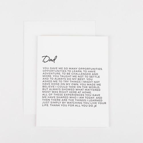 Dear Dad Greeting Card