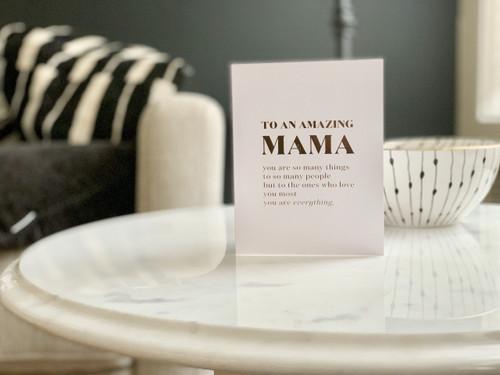 To An Amazing Mama