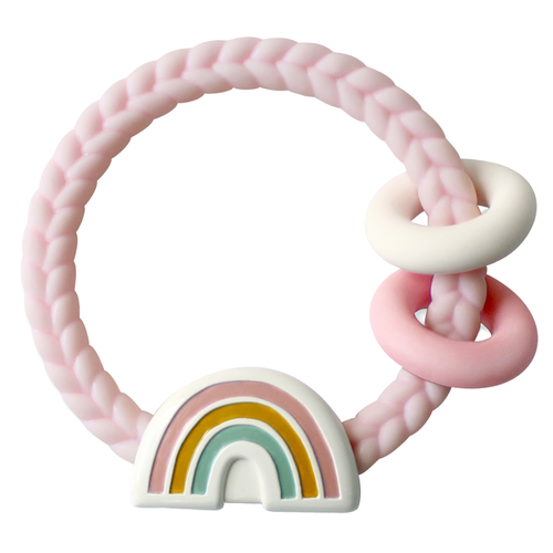 Rainbow Teether with Rattle | Pink
