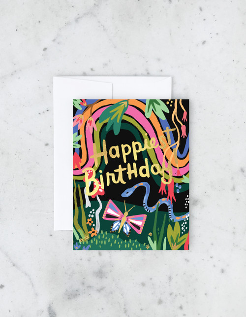 Rainbow Garden Greeting Card