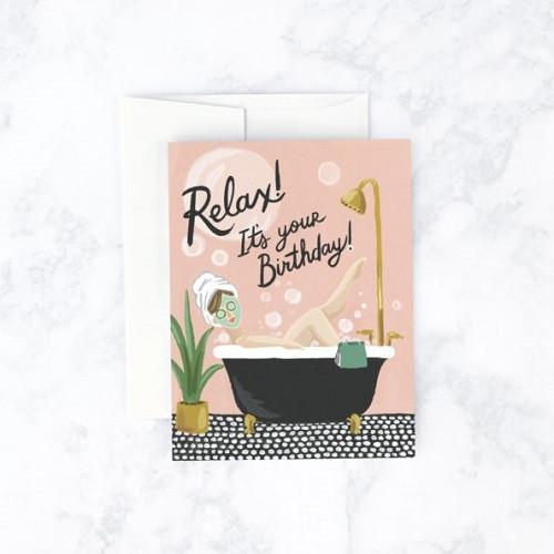 Bubble Bath Birthday Card