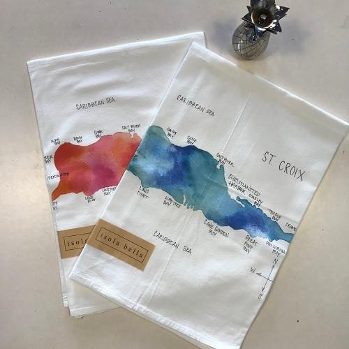 Gourmet Towel | St. Croix Map