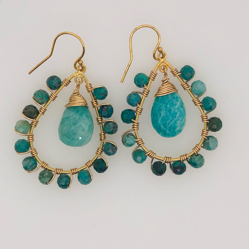 Candy Collection  | Teardrop Turquoise & Chrysocolla