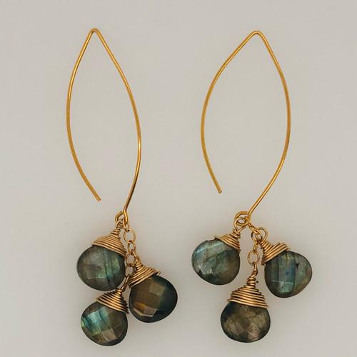 Waterfall Labradorite Earrings