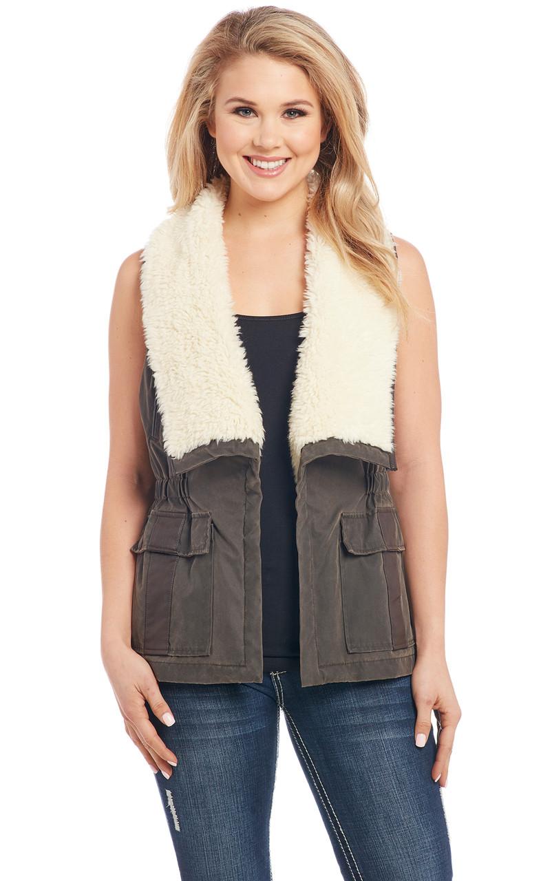 Cripple creek vest faux fur accents navy thinkorswim forex leverage 400