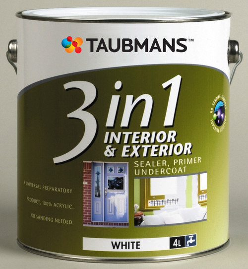 Taubmans 3 IN 1 White 4L