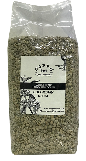 Colombian Decaf - 5 LB Unroasted Coffee Bean