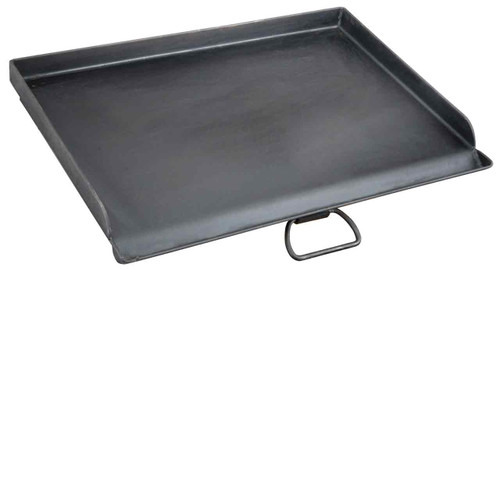 Professional Flat Top Griddle fits over two burners on the Camp Chef three burner models.