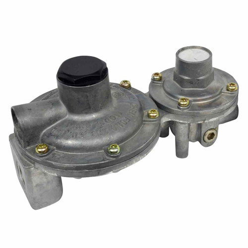"""Mr. Heater Two Stage Regulator, Vert. Vent (200,000 BTU) 1/4""""FPT inlet x 3/8"""" FPT outlet"""