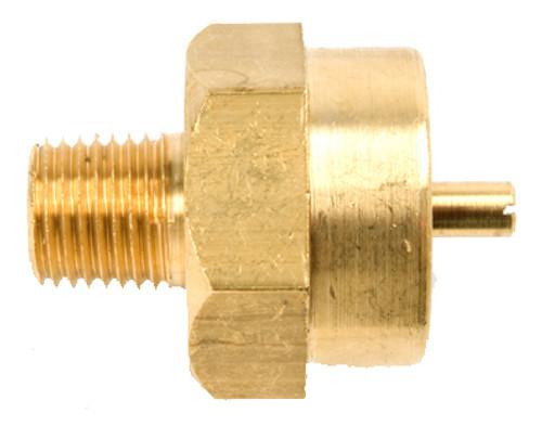 """1/4"""" Male Pipe Thread x 1""""-20 Female Throwaway Cylinder Thread"""