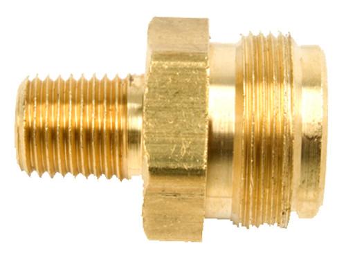 """1/4"""" Male Pipe Thread x 1""""-20 Male Throwaway Cylinder Thread"""